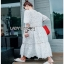 White Lady Ribbon Cotton Dress ขายเดรสผ้าคอตตอน thumbnail 4