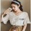 Mini Flower White Chiffon Lady Ribbon เสื้อผ้าชีฟองสีขาว thumbnail 2