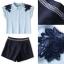 Lady Ribbon Online เสื้อผ้าออนไลน์ขายส่ง Normal Ally เสื้อผ้า NA04150816 &#x1F389Normal Ally Present flower lace decorate shirt and pant set&#x1F389 (เสื้อแต่งลูกไม้บ่า+กางเกงกระโปรงแต่งเชือกเปียเอว) thumbnail 6