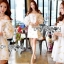 Gold Feather Embroidered Organza Dress เดรสผ้าแก้ว thumbnail 1