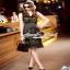 เสื้อผ้าแฟชั่นเกาหลีเดรสลุคสาวไฮ งานสวยด้วยงานปักแต่งลาย thumbnail 2