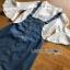 Lady Ribbon Denim Overall Dress thumbnail 7