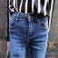 กางเกงยีนส์แฟชั่นแต่งรอยขาด แบรนด์เกาหลี Daisy thumbnail 9