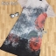 ผ้าชีฟองเนื้อทรายคอวีแขนสั้น thumbnail 6