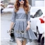 Lady Ribbon Dress with Lace Lining ขายส่งเดรสผ้าคอตตอน thumbnail 3