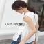 Lady Ribbon White Lace Top with Belt ขายเสื้อแขนกุด thumbnail 6