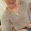 AI1767 - สร้อยคอแฟชั่น,สร้อยคอ,สร้อยแฟชั่น,เครื่องประดับ rose gold metal necklace thumbnail 8