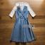 Lady Ribbon Denim Mini Dress ขายมินิเดรสเกาะอก thumbnail 8