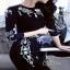 เสื้อผ้าแฟชั่นเกาหลีCliona Crystal Black Luxury Dress - Mini dress thumbnail 2