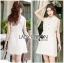 Lady Ribbon White Lace Shirt Dress เชิ้ตเดรส thumbnail 2