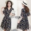 Lady Ribbon Nasha Mixed Wild Floral Printed Chiffon Ruffle Dress เดรสผ้าชีฟอง thumbnail 1