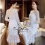 Lady Ribbon Online เสื้อผ้าแฟชั่นออนไลน์ขายส่ง เลดี้ริบบอนของแท้พร้อมส่ง Veryverypreppy เสื้อผ้า VP04240716 Luxury Floral Embroidery White Lace Dress thumbnail 1