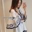Classic Dark Blue and White Embroidered Dress เดรสปักและตกแต่งลาย thumbnail 5