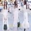 แฟชั่นลูกไม้ชุดเดรสเกาหลีสีขาว thumbnail 1