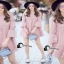 เสื้อผ้าเกาหลีสีชมพู Pink thumbnail 1
