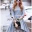 Lady Ribbon Dress with Lace Lining ขายส่งเดรสผ้าคอตตอน thumbnail 2