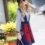 Lady Ribbon Online เสื้อผ้าออนไลน์ขายส่ง Normal Ally เสื้อผ้า,NA10220816 &#x1F389Normal Ally Present Embroidered skirt autumn new collection and striped shirt&#x1F389 (เสื้อเชิตริ้วปักการ์ตูน+ กป.ปักนูนลายกราฟฟิก, มีซับในอย่างดี) thumbnail 2