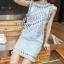Lady Ribbon Online เสื้อผ้าแฟชั่นออนไลน์ขายส่ง เลดี้ริบบอนของแท้พร้อมส่ง Sevy เสื้อผ้า SV17240716 BEST SELLER-Restock &#x1F389Sevy Matel Hallow Light Blue Mini Denim Dress thumbnail 4