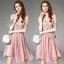 SV03310816 &#x1F389Sevy Luxury Lace Pink Gold Embroidered Dress Type: Dress Fabric: Mesh+Lace+Chiffon+Organdy thumbnail 2