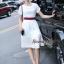 Lady Ribbon Online เสื้อผ้าออนไลน์ขายส่ง Normal Ally เสื้อผ้า NA09150816 &#x1F389Normal Ally Present Gucci New collection 2016 Dress &#x1F389 (เดรส + เข็มขัด) thumbnail 5