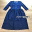 Lady Ribbon Embroidered Lace Dress thumbnail 9