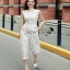 Lady Ribbon Lace Jumpsuit จัมป์สูทสีขาว thumbnail 1