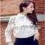 Shirt in White เชิ้ตขาวตกแต่งผ้าตาข่าย thumbnail 4