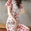 White & Red Gorgeous Lady Flora Dress thumbnail 5