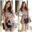 Lady Ribbon Online ขายส่งเสื้อผ้าออนไลน์ เลดี้ริบบอน LR20280716 &#x1F380Lady Ribbon's Made&#x1F380Lady Lana Flower Print A-Line Dress เดรสแขนสั้น thumbnail 2