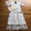 White Lace Maxi Dress Lady Ribbon เดรสยาว thumbnail 6