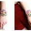 AD1617 - สร้อยข้อมือ,กำไลข้อมือ,กำไล,สร้อยข้อมือทอง,กำไลทอง,เครื่องประดับ punk style rivet bracelet thumbnail 6