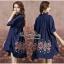 Lady Ribbon Online ขายส่งเสื้อผ้าออนไลน์ Very very pretty VP06030816 Smart Chic Embroidery Cotton shirt Dress thumbnail 2