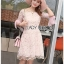 Lady Ribbon Mini Dress มินิเดรสผ้าทูลเลสีชมพู thumbnail 3