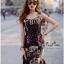 Lady Ribbon Online เสื้อผ้าออนไลน์ขายส่ง very very pretty เสื้อผ้า VP04140816 Smart Casual Polka Dot Print Sleeveless Dress thumbnail 3