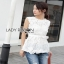 Lady Ribbon White Lace Top with Belt ขายเสื้อแขนกุด thumbnail 1