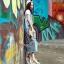 NA15290816 &#x1F389Normal Ally Present Denim bib skirt summer set&#x1F389 (เอี้ยมยีนส์ปักเลื่อม + เกาะอกสีดำ) thumbnail 3