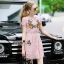 Lady Ribbon Online เสื้อผ้าออนไลน์ ขายส่ง normal ของแท้ NA13140716 &#x1F389Normal Ally Present embroidered flower lace elegance dress&#x1F389 (เดรสลูกไม้งานปัก , ซับในอย่างดีทั้งชุด) thumbnail 2
