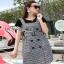 Lady Ribbon Black T-Shirt Dress Set ขายเซ็ตเสื้อยืด thumbnail 5