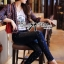 Lady Ribbon Online ขายส่งเสื้อผ้าออนไลน์ ขายส่งของแท้พร้อมส่ง Lady Ribbon LR17250716 &#x1F380 Lady Ribbon's Made &#x1F380 Lady Kim Skinny Jeans with Crystal Embellished thumbnail 5