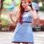 Checked Cotton Dress Lady Ribbon เดรสแขนกุด thumbnail 4