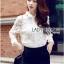 Lady Ribbon Online ขายส่ง เสื้อผ้าออนไลน์ ของแท้ ราคาถูกพร้อมส่ง เลดี้ริบบอน LR18140716 &#x1F380&#x1F380 Lady Ribbon's Made &#x1F380&#x1F380 Lady Blaire Floral Embroidered Lace Shirt in White thumbnail 3