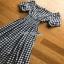 Lady Ribbon Country Style Check Cotton Dress เดรสผ้าคอตตอน thumbnail 7
