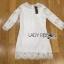 Lady Ribbon Online เสื้อผ้าออนไลน์ ขายส่งของแท้ราคาถููก LR09110716 &#x1F380 Lady Ribbon's Made &#x1F380 Lady Daria Pure Classic White Silk Cotton and Lace Dress thumbnail 5