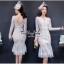 Lady Ribbon Online เสื้อผ้าแฟชั่นออนไลน์ขายส่ง เลดี้ริบบอนของแท้พร้อมส่ง Veryverypreppy เสื้อผ้า VP04240716 Luxury Floral Embroidery White Lace Dress thumbnail 2