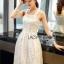 Lady Ribbon Online เสื้อผ้าออนไลน์ขายส่ง lady ribbon เสื้อผ้า LR07150816 &#x1F380 Lady Ribbon's Made &#x1F380 Lady Samantha Sweet Feminine Laser-Cut Cotton Dress เดรสแขนกุดผ้าคอต thumbnail 3