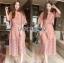 Lady Ribbon Online เสื้อผ้าออนไลน์ ขายส่งของแท้ราคาถููก LR12110716 &#x1F380 Lady Ribbon's Made &#x1F380 Lady Charlotte Pinky Feminine Hearty Embroidered Set thumbnail 1