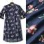 Normal Ally Present flower print in premium denim dress&#x1F389 (เดรสผ้ายีนส์พิมลาย, มีซับในอย่างดีทั้งชุด) thumbnail 6