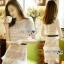 Lady Ribbon Self-Portrait Mixed White Lace Mini Dress thumbnail 1