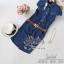 2Sister Made, Smart Elegant Jean Dress with Vintage Brown Belt เดรสยีนส์ ผ้าเดนิมเนื้อนิ่ม thumbnail 7