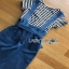 Lady Ribbon Striped and Denim Jumpsuit with Ribbon thumbnail 7